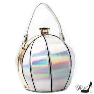 My Bag Lady Online Bags - Ball Bag Satchel in Metallic Patent Leather